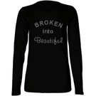 Broken into Beautiful Rhinestone Studded Long Sleeve Tee
