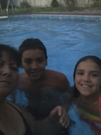 kids and I in the pool Aug 2013
