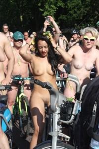 world bike ride naked erection London