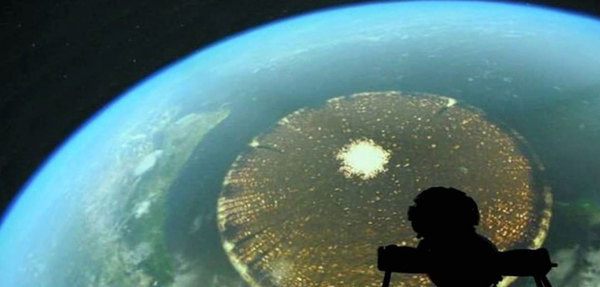3,000 Mile Wide Disc Above Earth