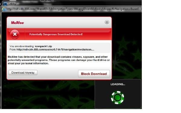 888 casino virus