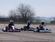 at the racing