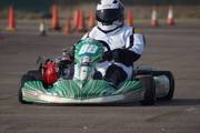 my wife and son kart racing