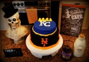 Halloween World Series Cake