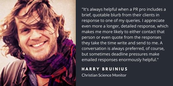 Harry Bruinius, Christian Science Monitor