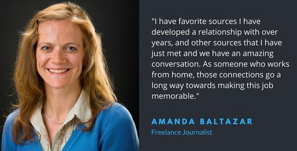 Amanda Baltazar, freelance journalist